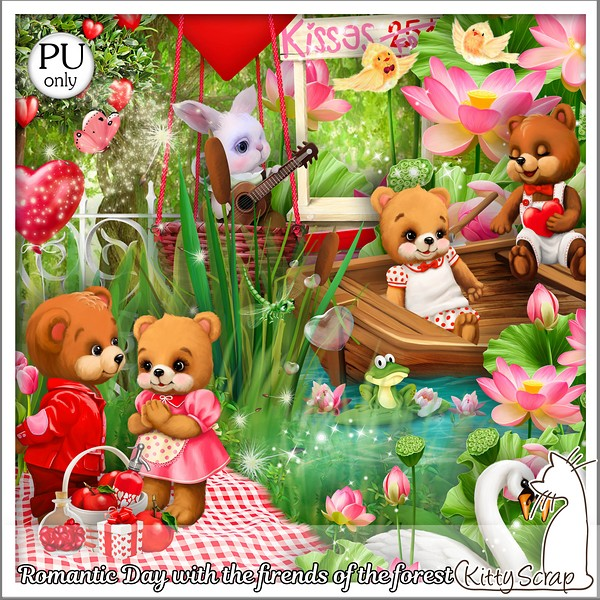 Romantic day with the friends of the forest de Kittyscrap dans Février kitty179