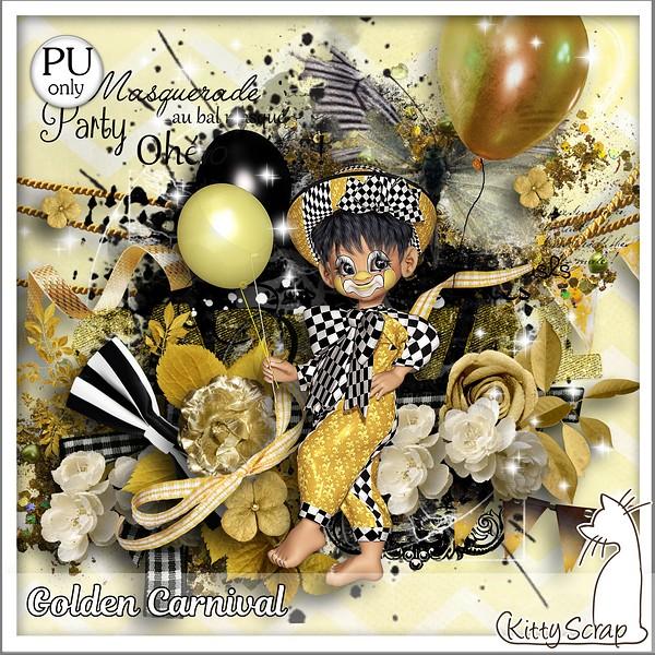 Golden carnaval de Kittyscrap dans Février kitty183