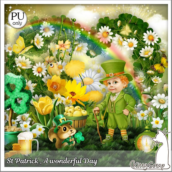 St Patrick a wonderful day de KITTYSCRAP dans Mars kitty367