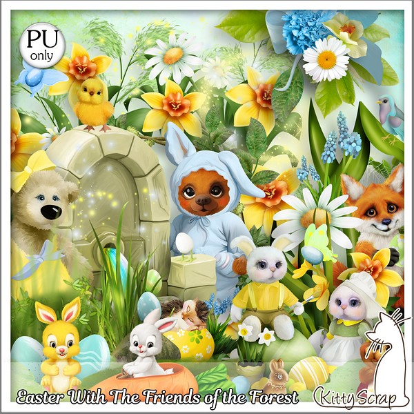 Easter with the friends of the forest de Kittyscrap dans Mars kitty372