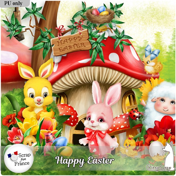 Happy easter de Kittyscrap dans Mars kitty376