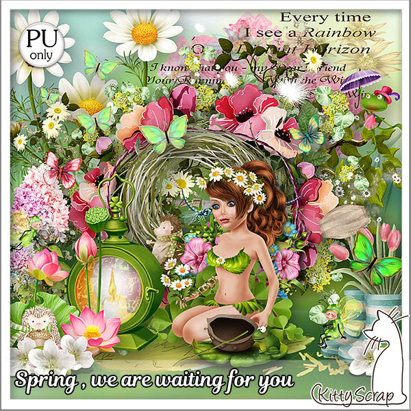 Spring we are waiting for you de Kittyscrap dans Avril kitty455