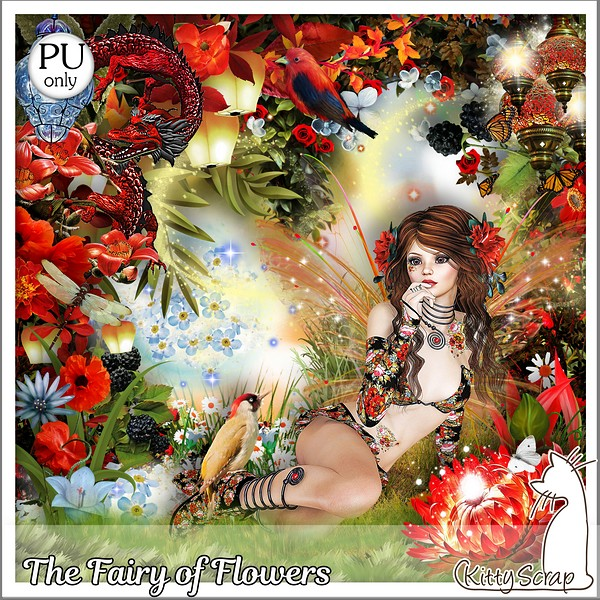 The fary of flowers de Kittyscrap dans juin kitty560