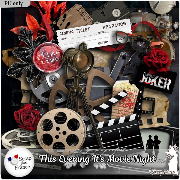 This evening it s movie night de Kittyscrap kittys17