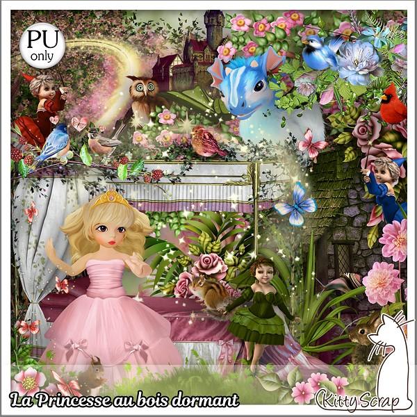 La princesse au bois dormant de Kittyscrap dans Novembre kittys29
