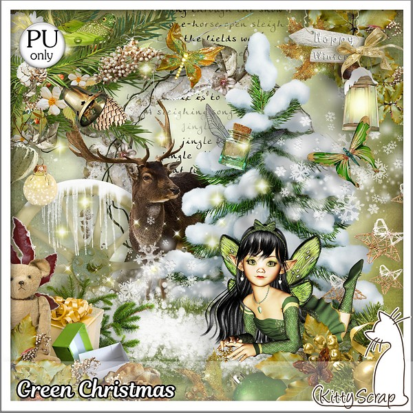 Green Christmas de Kittyscrap dans Novembre kittys38