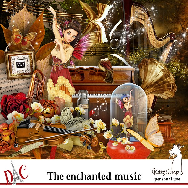 The enchanted music par Kittyscrap dans juin previ199