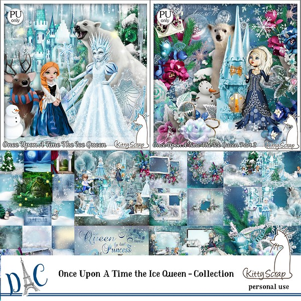 Once upon a time The ice Queen collection de Kittyscrap dans Janvier previe77