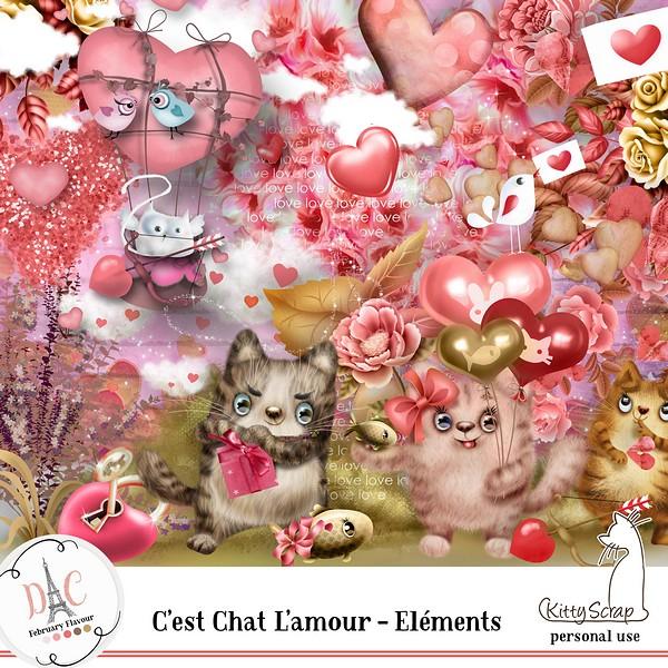 FEBRUARY FLAVOR - C'est chat l amour de Kittyscrap dans Février previe97