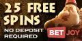 BetJoy Casino 25 Tours Gratuits bonus sans dépôt exclusif