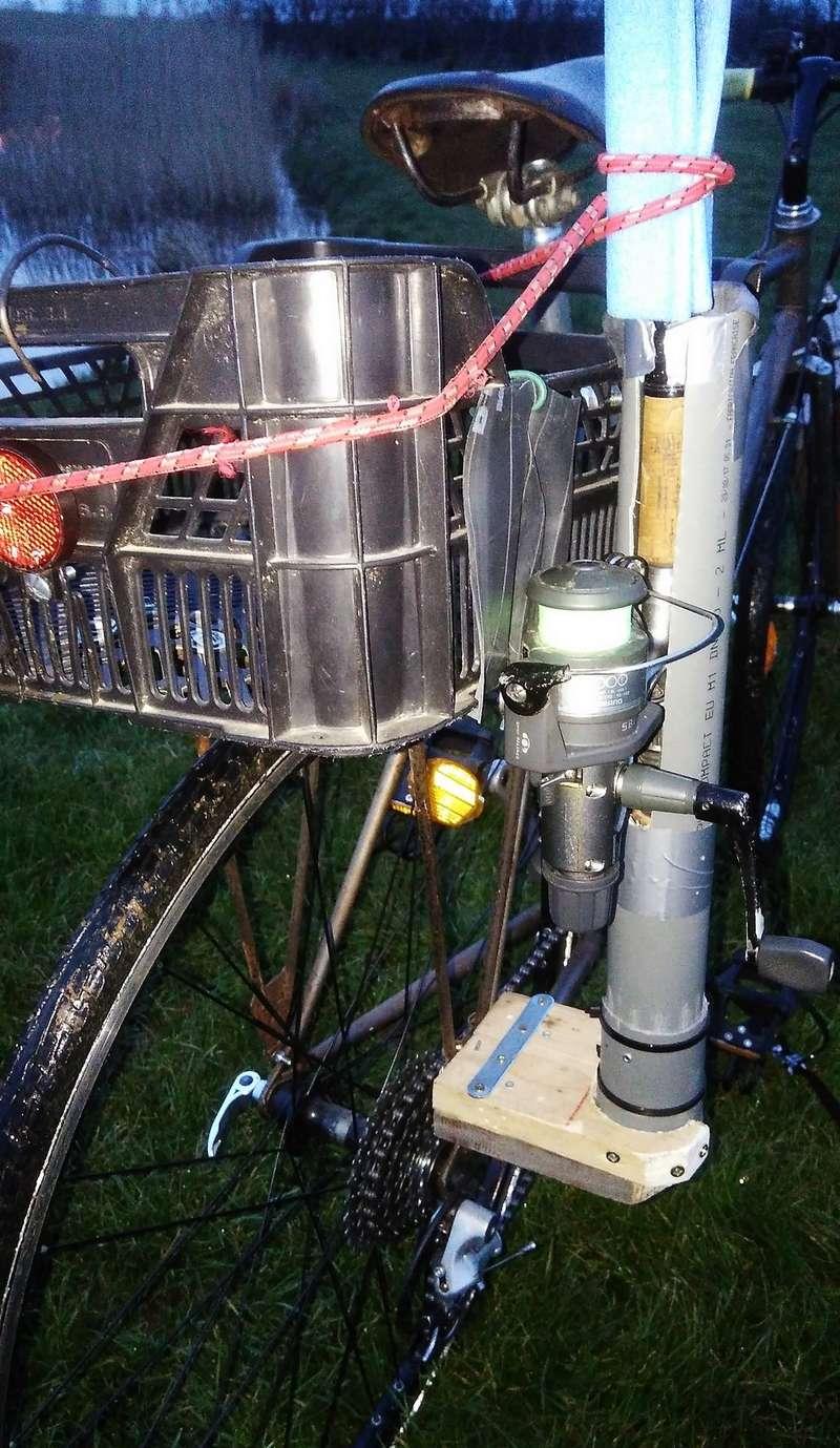 Canne A Peche Fait Maison porte canne pour vélo - forum sur le matériel - achigan