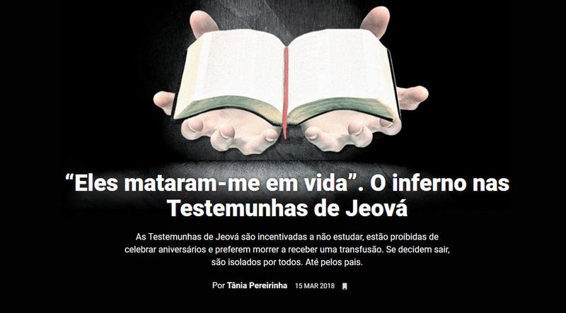 """Resultado de imagem para """"Eles mataram-me em vida"""". O inferno nas Testemunhas de Jeová"""