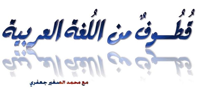 قطــوف من اللغة العربية