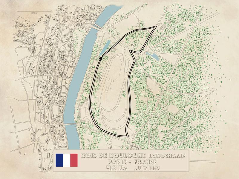 Bois De Boulogne 1965 Old Vintage Map Plan Chart France Antiques