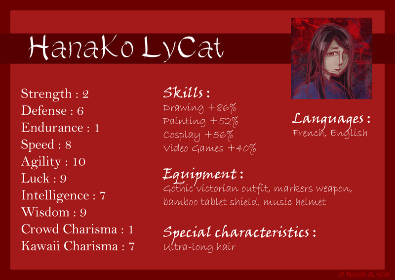 HanaKo's character's characteristics
