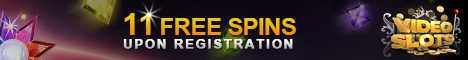 VideoSlots Casino 11 free spins no deposit