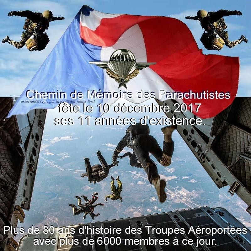 """NOTRE FORUM """"CHEMIN DE MEMOIRE DES PARACHUTISTES"""" FETE SES 11 ANNEES EXISTENCE"""