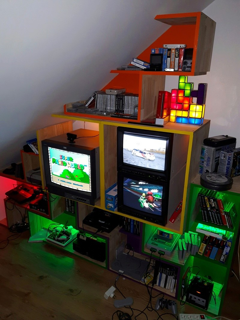 Game Room Ou Plutot Salle De Jeux Retrogaming Tetris
