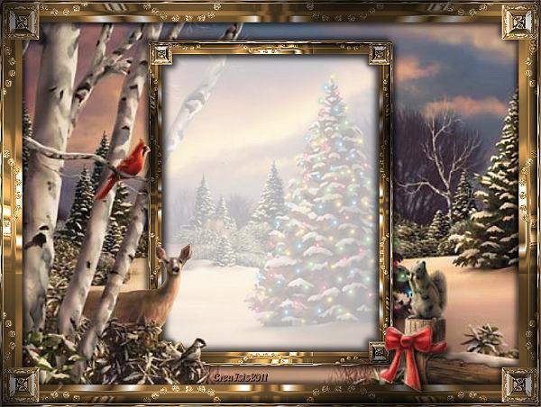 **Template de Noël** dans A personnaliser templa10