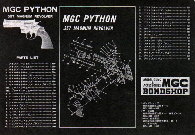Mgc 357 Magnum Colt Python Exploded Diagram