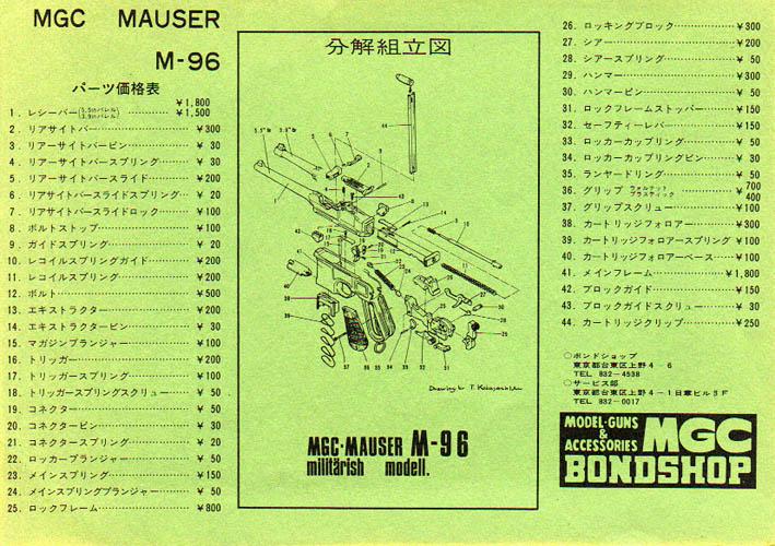 Mgc Mauser C96 Exploded Diagram