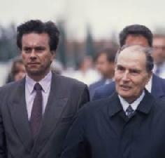 Claude Evin et François Mitterrand en 1988