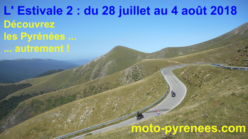 Moto Pyrénées juillet août 2018