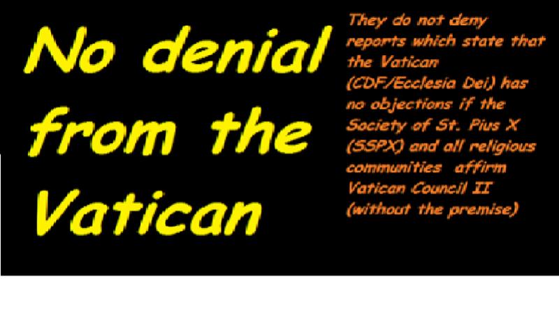 eucharistandmission: Repost : Vatican (CDF/Ecclesia Dei) has no ...