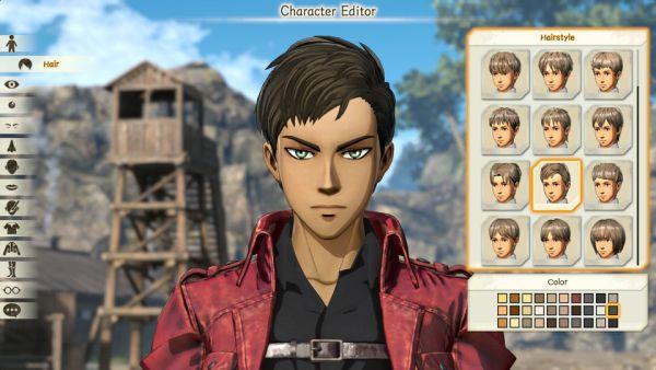 Attack on Titan 2 Editor Personaggio
