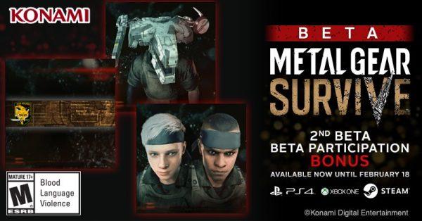 Metal Gear Survive Beta Bonus