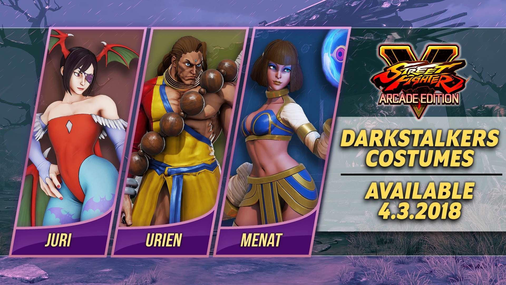 Street Fighter V Arcade Edition - Costumi Darkstalkers