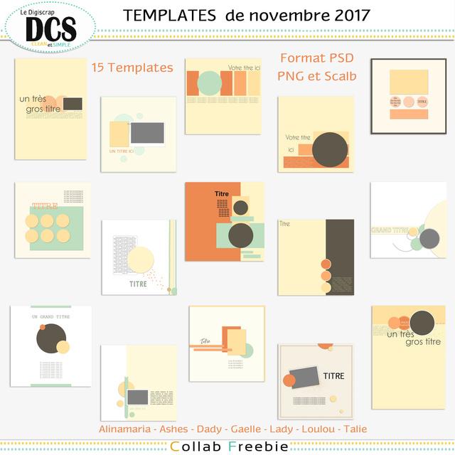 Les templates  de novembre