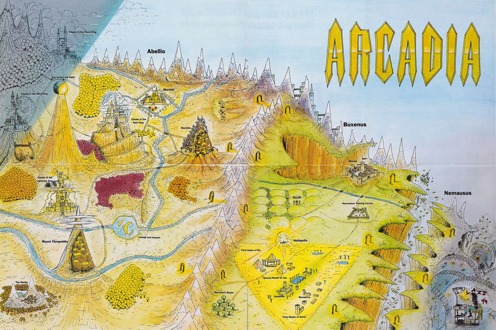 Carte de l'Arcadie