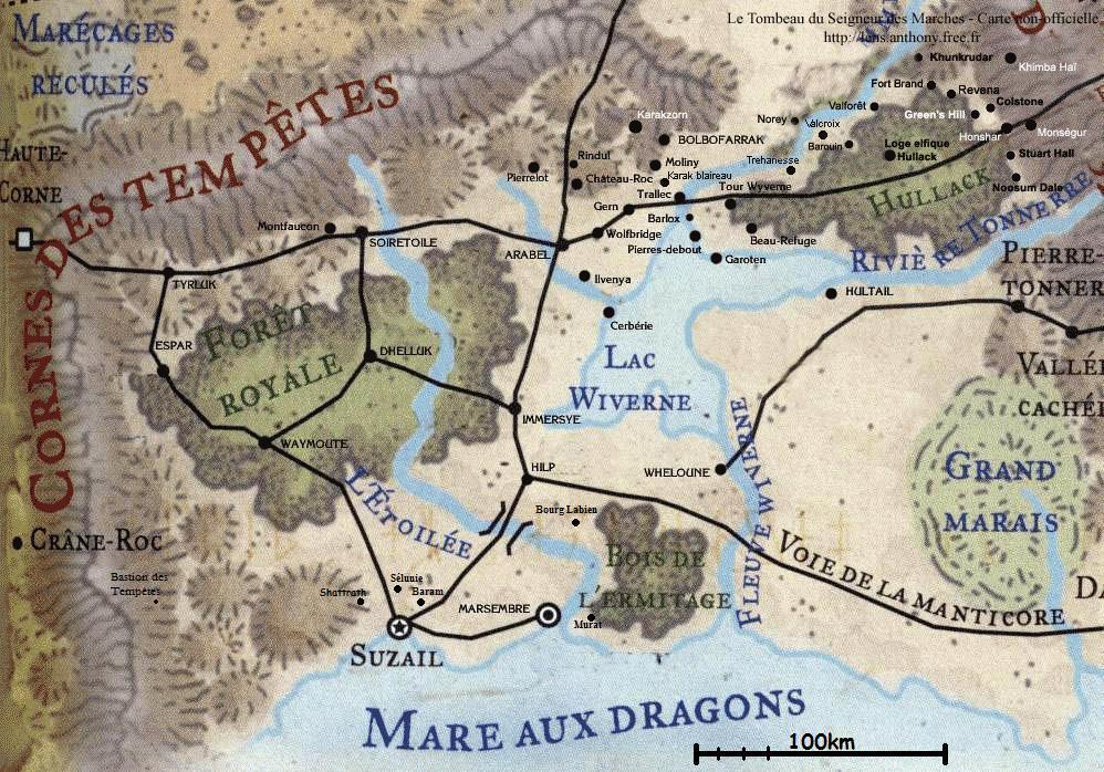 Carte du Cormyr.