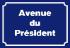Avenue du président