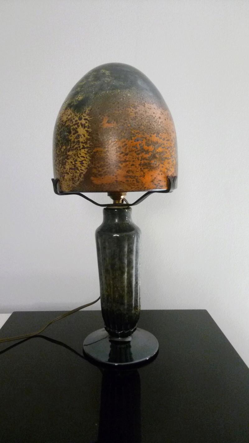 lampe verre art deco globe obus. Black Bedroom Furniture Sets. Home Design Ideas