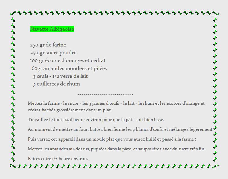 recette de terroir - Aveyron, Navette Albigeoise