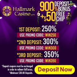 $50 No Deposit Bonus at Hallmark Casino