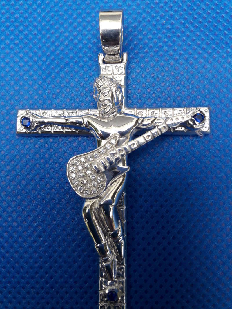 pendentif croix johnny hallyday couleur argent bijoux. Black Bedroom Furniture Sets. Home Design Ideas